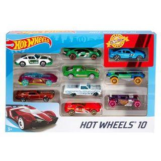 hotwheels Coffret de 10 véhicules
