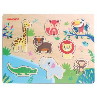 Puzzle animaux de la jungle