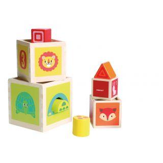 Ensemble de boîtes de puzzle d'animaux