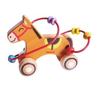 Chariot de perle de rouleau de cheval