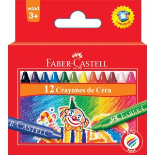 12 Wax crayons - Faber castell