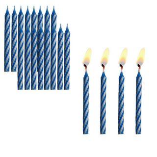 12 bougies bleus plus 12 supports