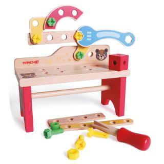 Établi de jouet en bois
