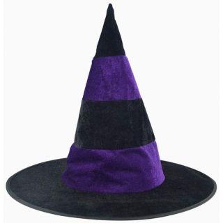 Chapeau sorcière violet a rayures