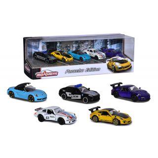 MAJORETTE Porsche 5 pieces en métal Giftpack