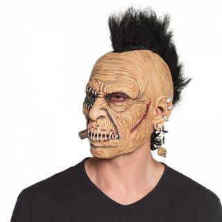 Masque tête latex Rockeur