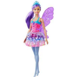 Barbie Dreamtopia Fée Poupée Cheveux Violets Avec Ailes GJJ98