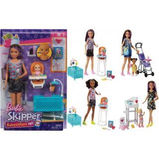 Barbie COFFRET BABYSITTER ET ENFANT