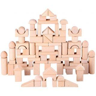 Blocs de construction éducatif bois 100P-ACOOLTOY