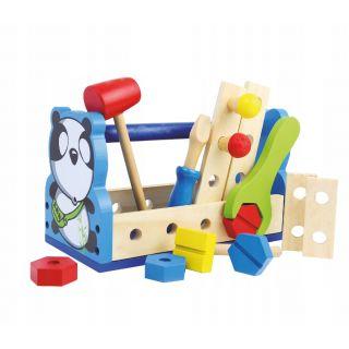 Boîte à outils Panda en bois-ACOOLTOY