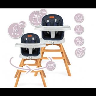 Chaise pivotante en bois MoMi WOODI