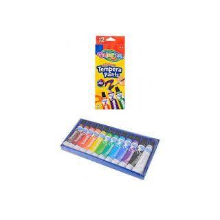 Colorino-Peintures tempera Colorino 12 ml, 12 couleurs