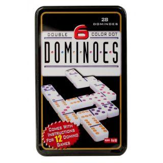 Jeu de dominos doubles à six couleurs.