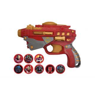 pistolet avengers avec flechettes en mousse