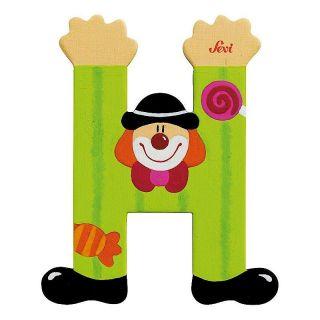 Lettre en Bois Clown H