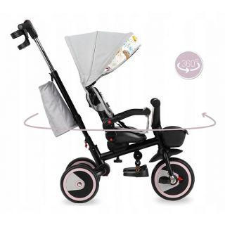 MoMi Tricycle Invidia 360 ° Gris Rose