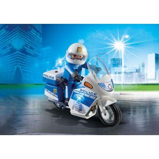 Moto de policier avec gyrophare - 6923 - Playmobil