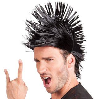 Perruque Spiky Mike Noir