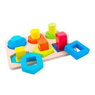 Puzzle d'encastrement formes en bois
