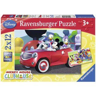 Puzzle Mickey, Minnie et leurs amis- 2 x 12 pièces