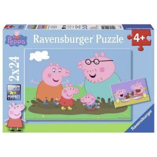 Puzzle Vie famille/Peppa Pig - 2x24 pièces