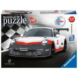Ravensburger- Puzzle 3D 108 pièces Porsche 911 GT3 Cup