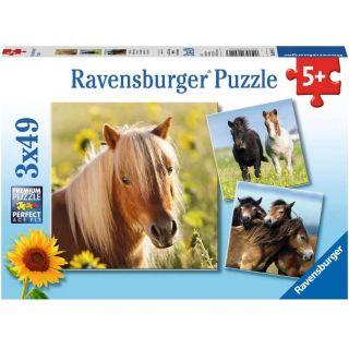 Ravensburger Puzzle Loving Horses (3x49pc)