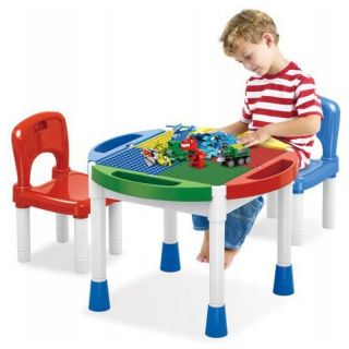 Table de Construction et 2 Chaises 3 en1