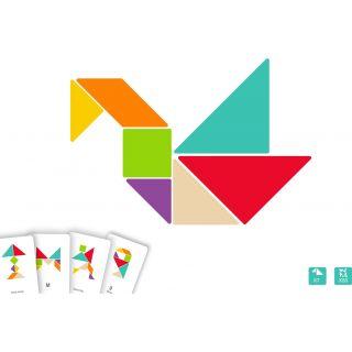 Puzzles de tangram en bois