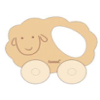 Voiture mouton en bois