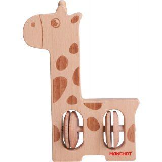 clochette-girafe en bois
